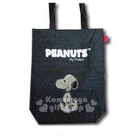 史努比Snoopy商品推薦,史努比包包/後背包推薦到〔小禮堂〕史努比 牛仔布水鑽直式側背袋《黑》手提袋.肩背袋