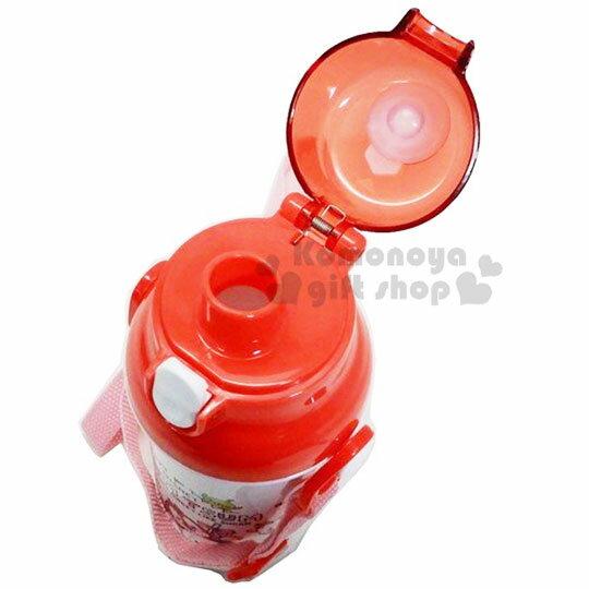 〔小禮堂〕迪士尼TSUMTSUM 日製直飲式水壺附背帶《紅白.大臉》480ml.水瓶.兒童水壺 3