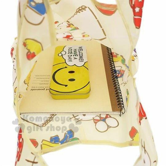 〔小禮堂〕Hello Kitty 可折疊尼龍環保購物袋《米.抱小熊》環保袋.手提袋 2