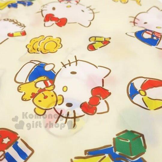 〔小禮堂〕Hello Kitty 可折疊尼龍環保購物袋《米.抱小熊》環保袋.手提袋 3
