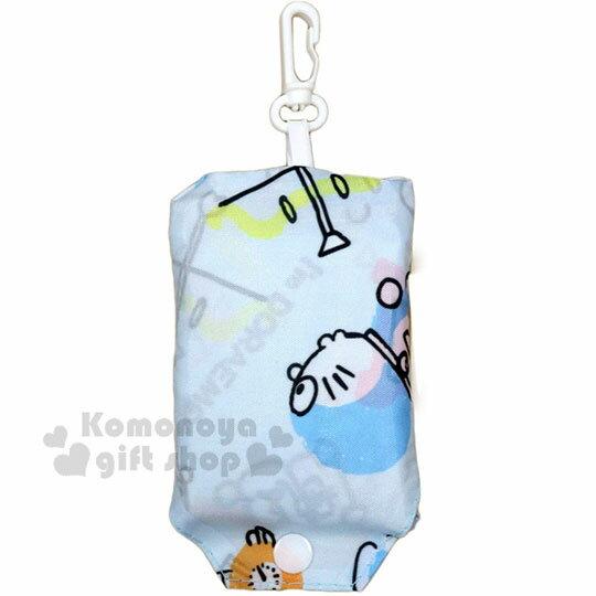 〔小禮堂〕哆啦A夢 可折疊尼龍環保購物袋《藍.道具》環保袋.手提袋 1