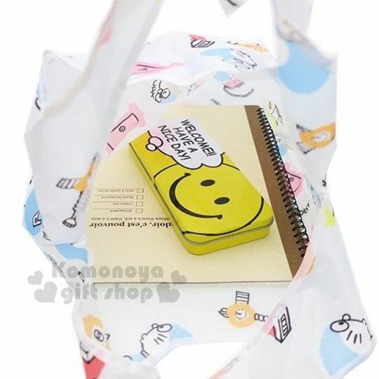 〔小禮堂〕哆啦A夢 可折疊尼龍環保購物袋《藍.道具》環保袋.手提袋 2