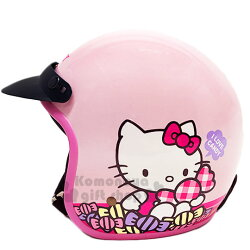 〔小禮堂〕Hello Kitty 半罩式安全帽《粉.糖果》機車配件