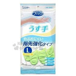 〔小禮堂〕日本雞仔牌 乳膠手套《L.綠》家事手套.掃除用品