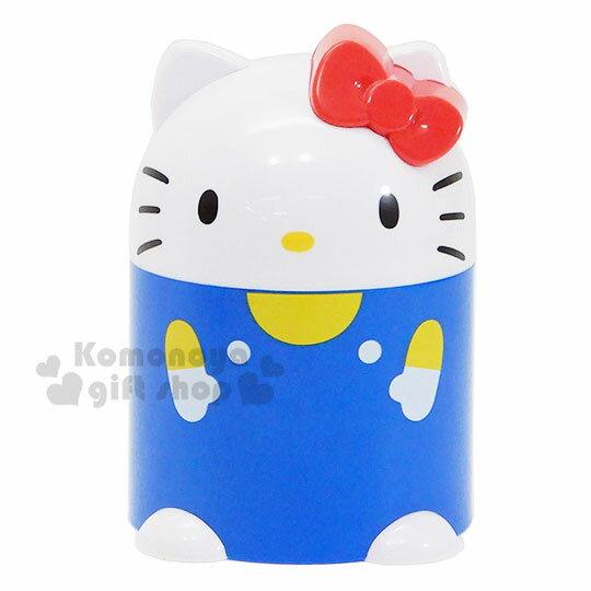 〔小禮堂〕Hello Kkitty 塑膠存錢筒《藍白.坐姿》擺飾.撲滿.儲金筒