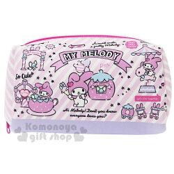 〔小禮堂〕美樂蒂 潛水布方形化妝包《粉.遊樂園》收納包.萬用包.筆袋