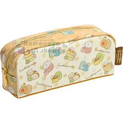 〔小禮堂〕角落生物 防水拉鍊筆袋《黃.甜點》化妝包.收納包.鉛筆盒