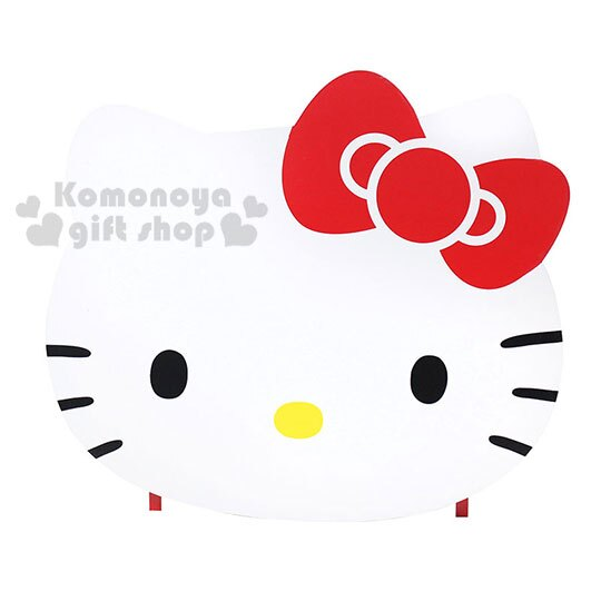 〔小禮堂〕Hello Kitty 造型木製雙抽收納盒附鏡《紅.大臉》抽屜盒.化妝鏡台 3