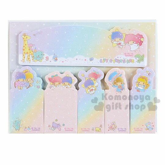 〔小禮堂〕雙子星 日 型自黏標籤貼組《粉藍.動物》N次貼.便利貼.書籤貼