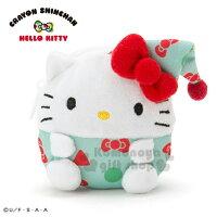 凱蒂貓週邊商品推薦到〔小禮堂〕Hello Kitty x 蠟筆小新 迷你造型絨毛零錢包《白綠》耳機包.收納包