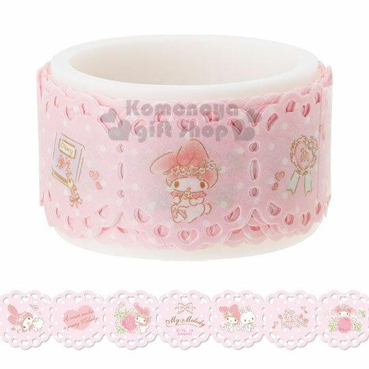 【領券折$30】小禮堂 美樂蒂 蕾絲造型紙膠帶《粉.抱草莓》20mmx2m.裝飾貼.黏貼用品