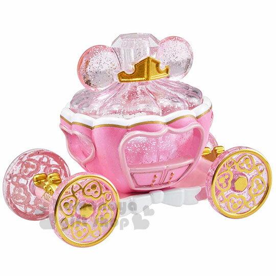 〔小禮堂〕迪士尼 睡美人 TOMICA小汽車水晶南瓜馬車《粉》珠寶車.公仔.玩具.模型 0