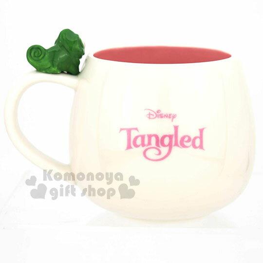 小禮堂 迪士尼 長髮公主 造型陶瓷馬克杯《白紫.杯邊玩偶》300ml.茶杯.咖啡杯