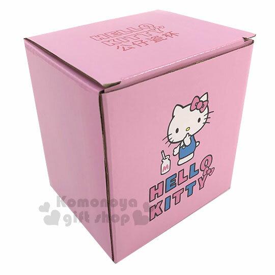 〔小禮堂〕Hello Kitty 造型陶瓷馬克杯《粉.杯邊玩偶》250ml.咖啡杯.茶杯 4