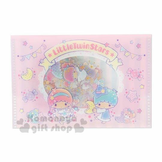 〔小禮堂〕雙子星 燙金透明貼紙收納夾組《粉藍》裝飾貼.黏貼用品.包裝