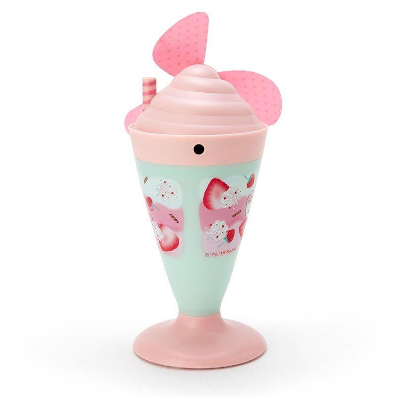 〔小禮堂〕Hello Kitty 軟葉片冰淇淋造型電池式隨身風扇《粉綠》立扇.手持電風扇 1