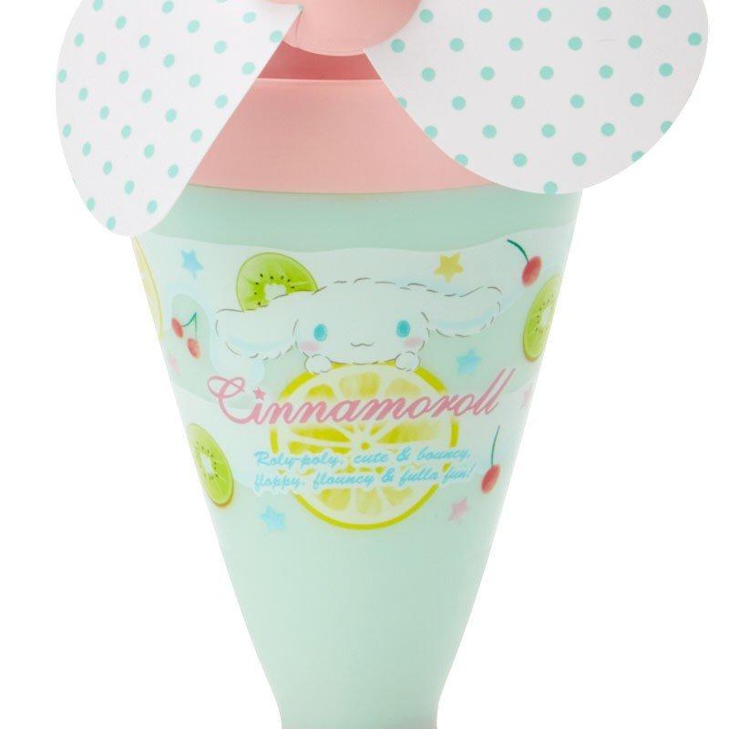 〔小禮堂〕大耳狗 軟葉片冰淇淋造型電池式隨身風扇《粉綠》立扇.手持電風扇 2