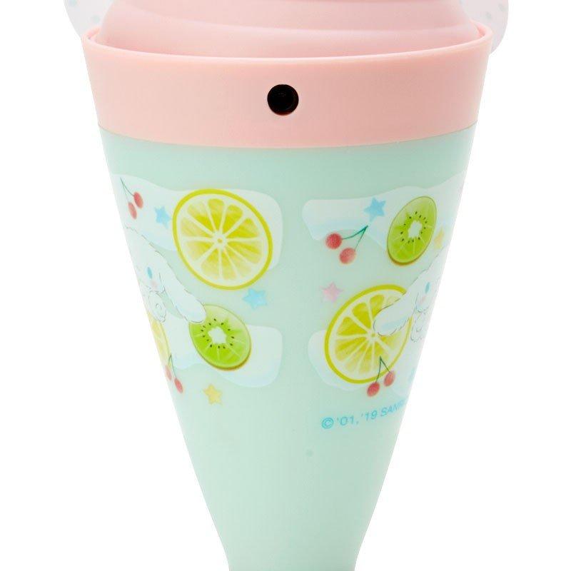 〔小禮堂〕大耳狗 軟葉片冰淇淋造型電池式隨身風扇《粉綠》立扇.手持電風扇 3