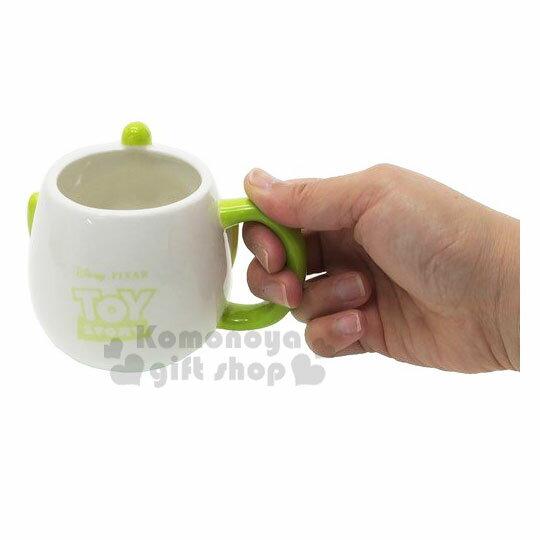 【領券折$30】 小禮堂 迪士尼 三眼怪 造型陶瓷馬克杯《白綠.大臉》350ml.茶杯.咖啡杯