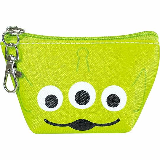 〔小禮堂〕迪士尼 三眼怪 皮質船形零錢包《綠.大臉》耳機包.收納包.掛飾 0