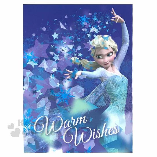 〔小禮堂〕迪士尼 冰雪奇緣 直式萬用大卡片《藍.艾莎》送禮卡.祝賀卡.節慶卡