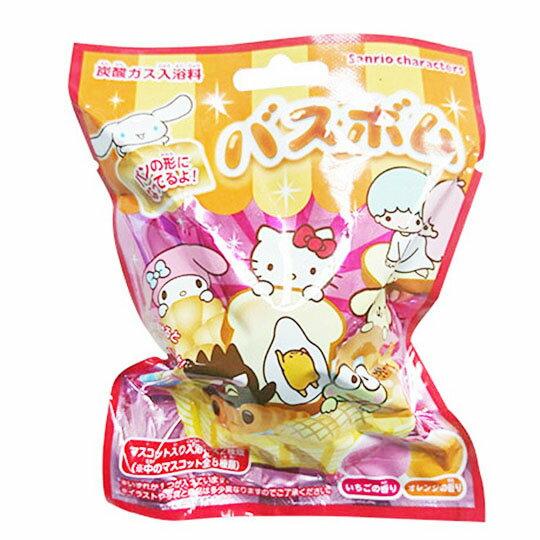 〔小禮堂〕Sanrio大集合 造型入浴球《8款隨機.紅.麵包》入浴劑.泡澡球 2
