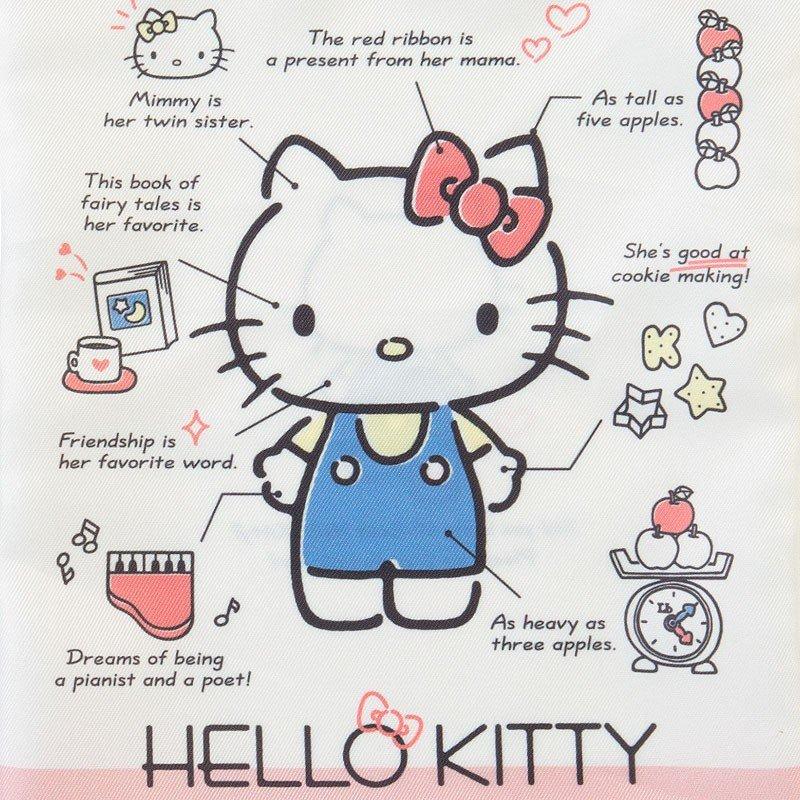 〔小禮堂〕Hello Kitty 帆布束口袋《米紅》30x23cm.縮口袋.收納袋.2019角色大賞 2