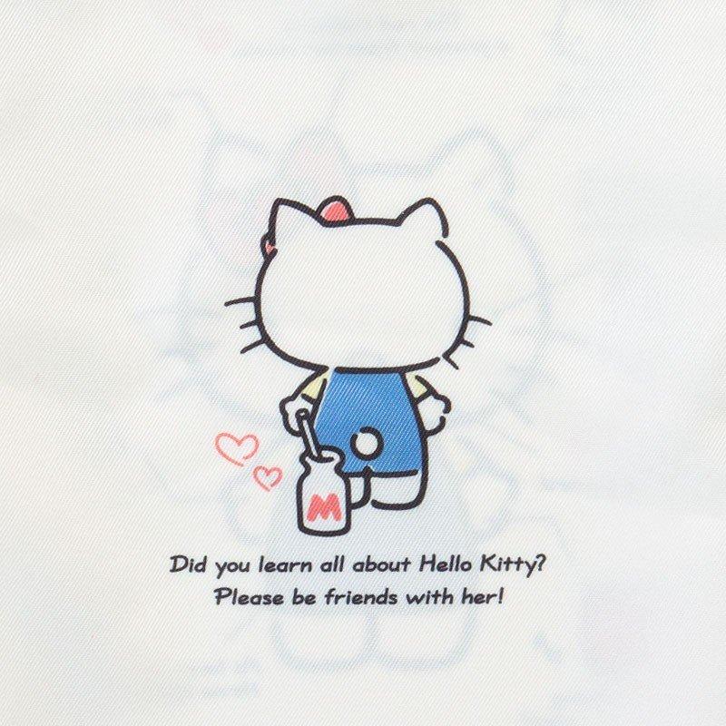 〔小禮堂〕Hello Kitty 帆布束口袋《米紅》30x23cm.縮口袋.收納袋.2019角色大賞 3