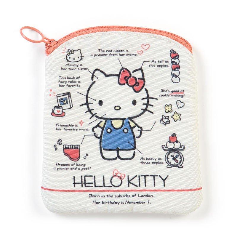 〔小禮堂〕Hello Kitty 直式尼龍面紙化妝包《米紅》收納包.面紙包.2019角色大賞 0