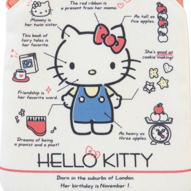 〔小禮堂〕Hello Kitty 直式尼龍面紙化妝包《米紅》收納包.面紙包.2019角色大賞 3
