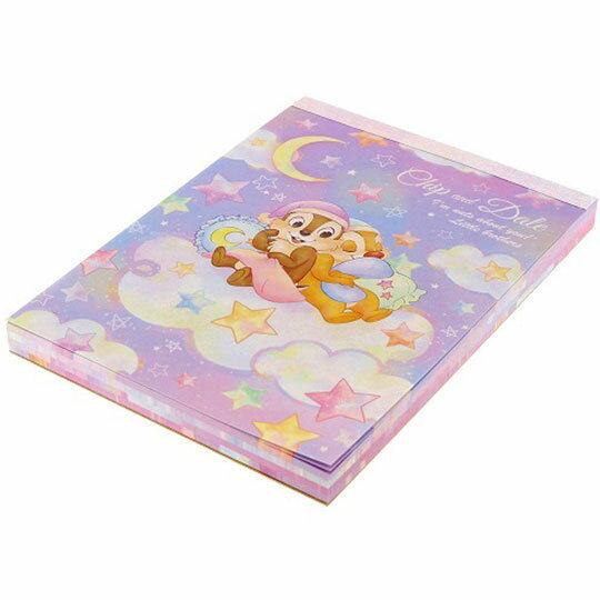 〔小禮堂〕迪士尼 奇奇蒂蒂 日製便條本《紫.雲上睡覺》便條紙.留言紙.信紙 3