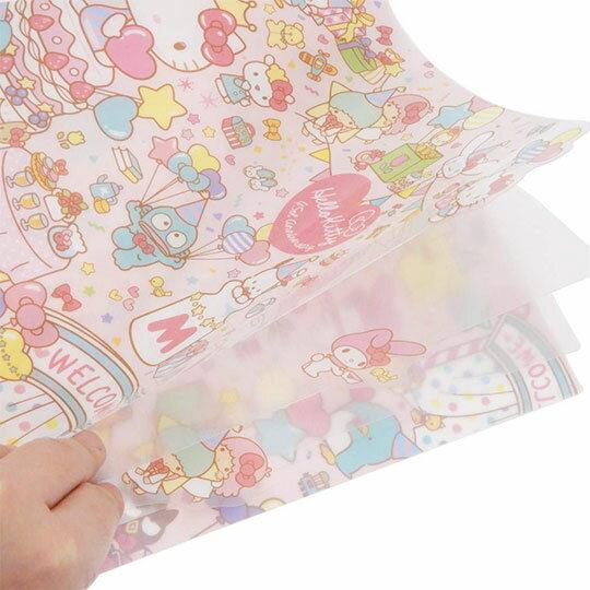 〔小禮堂〕Hello Kitty 日製L型分類文件夾《A4.粉.45週年》資料夾.L夾.檔案夾 1
