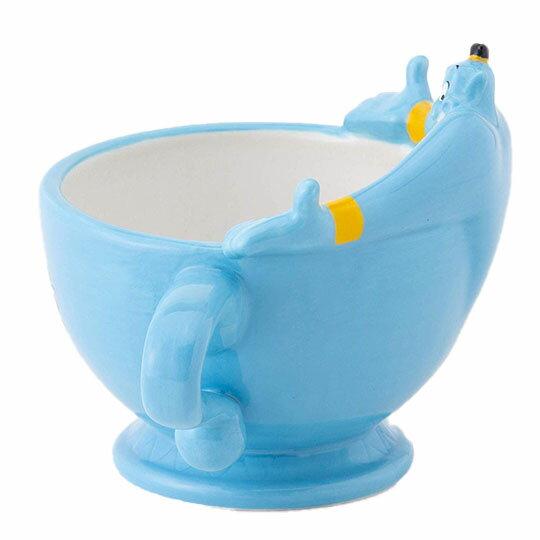 〔小禮堂〕迪士尼 阿拉丁神燈 造型陶瓷馬克杯《藍.張手》茶杯.咖啡杯 2