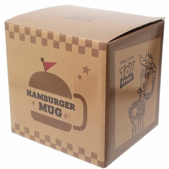〔小禮堂〕迪士尼 玩具總動員 漢堡造型陶瓷馬克杯附蓋《棕》350ml.咖啡杯.茶杯 4