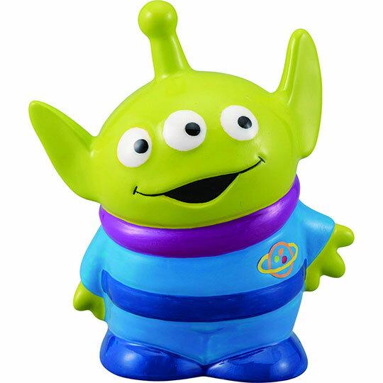 〔小禮堂〕迪士尼 三眼怪 陶瓷存錢筒《綠藍.彎頭》擺飾品.撲滿.儲金筒