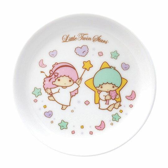 〔小禮堂〕雙子星日製迷你陶瓷圓盤《粉綠.星星手杖》醬料盤.小菜碟.金正陶器 - 限時優惠好康折扣