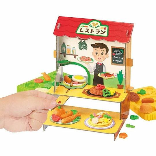 〔小禮堂〕日本銀鳥 牛排店 天然米黏土玩具組《4色.紅盒裝》兒童玩具.美勞玩具 1