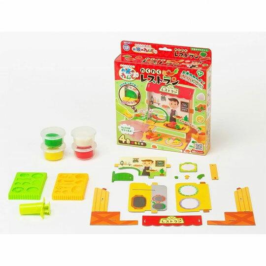 〔小禮堂〕日本銀鳥 牛排店 天然米黏土玩具組《4色.紅盒裝》兒童玩具.美勞玩具 2