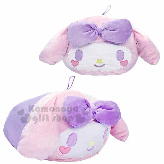 〔小禮堂〕美樂蒂 筒狀大臉造型抱枕靠墊《紫.愛心腮紅》靠枕.Mocchi-Mocchi娃娃 0