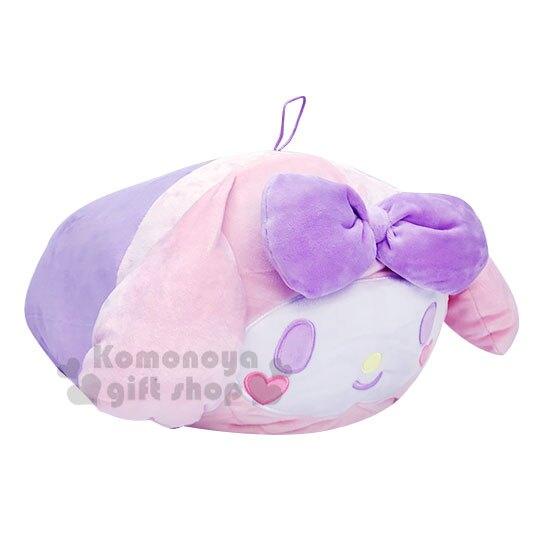 〔小禮堂〕美樂蒂 筒狀大臉造型抱枕靠墊《紫.愛心腮紅》靠枕.Mocchi-Mocchi娃娃 1