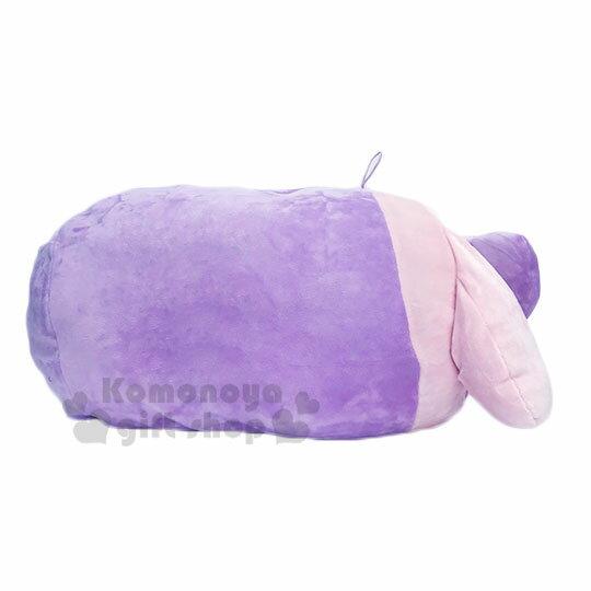 〔小禮堂〕美樂蒂 筒狀大臉造型抱枕靠墊《紫.愛心腮紅》靠枕.Mocchi-Mocchi娃娃 2