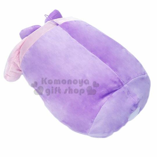〔小禮堂〕美樂蒂 筒狀大臉造型抱枕靠墊《紫.愛心腮紅》靠枕.Mocchi-Mocchi娃娃 3