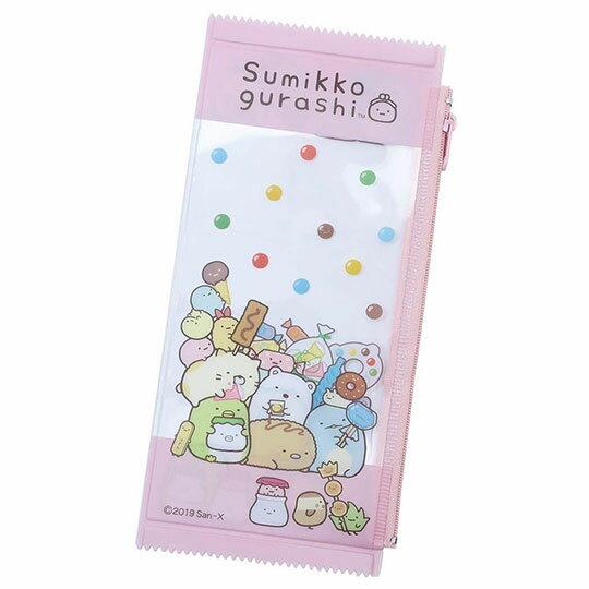 〔小禮堂〕角落生物 餅乾袋 防水扁平拉鍊筆袋《粉》收納包.化妝包.鉛筆盒
