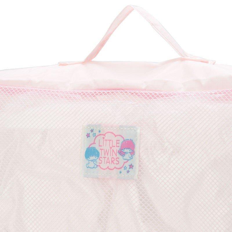 〔小禮堂〕雙子星 尼龍方形衣物收納袋組《3入.淡粉》網袋.盥洗包.2019旅行系列 5