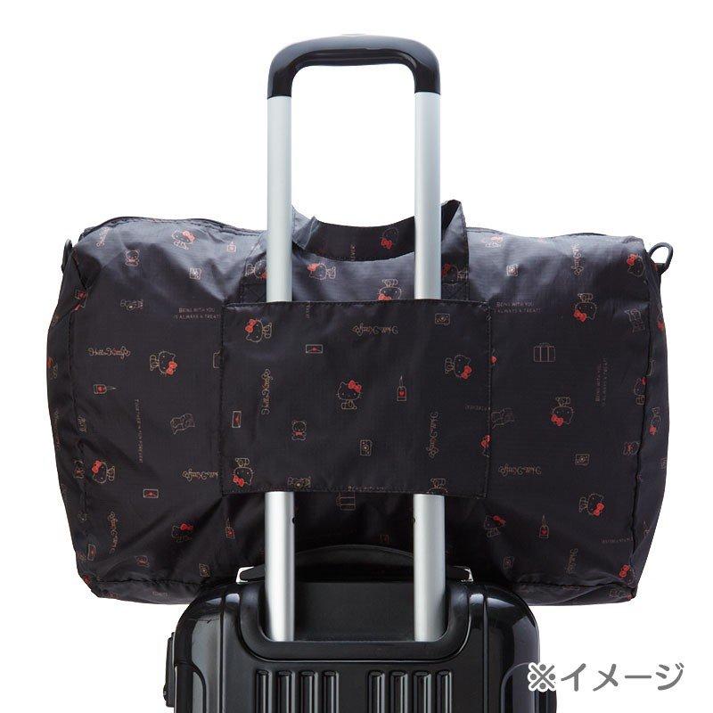 〔小禮堂〕雙子星 折疊尼龍拉桿行李袋《淡粉》旅行袋.收納袋.2019旅行系列 5