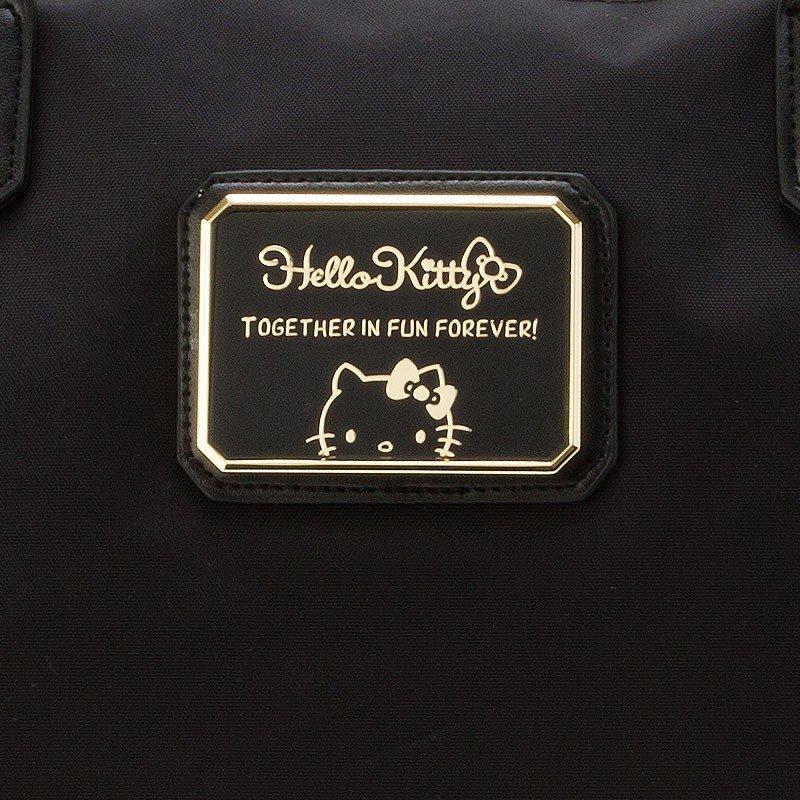 〔小禮堂〕Hello Kitty 厚磅尼龍水餃包拉桿行李袋《黑》旅行袋.2019旅行系列 3