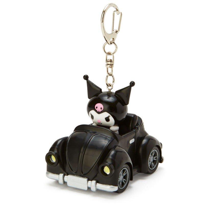 〔小禮堂〕酷洛米 汽車造型LED燈掛飾《黑》LED鑰匙圈.吊飾