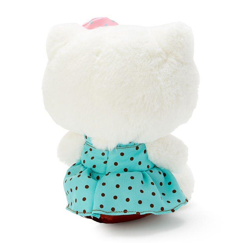 〔小禮堂〕Hello Kitty 絨毛玩偶娃娃《M.綠白》擺飾.玩具.薄荷巧克力系列 1