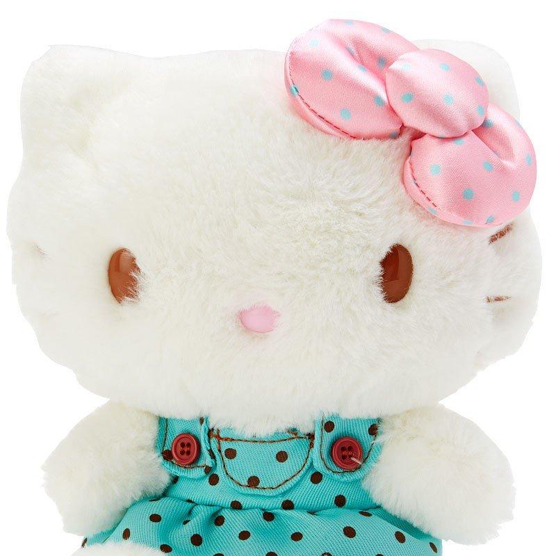 〔小禮堂〕Hello Kitty 絨毛玩偶娃娃《M.綠白》擺飾.玩具.薄荷巧克力系列 2
