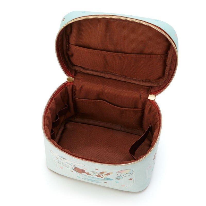 〔小禮堂〕大耳狗 皮質掀蓋化妝箱《綠棕》化妝包.收納包.薄荷巧克力系列 2